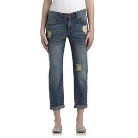 True Freedom Junior's The Getaway Boyfriend Jeans - Distressed Denim at Sears.com