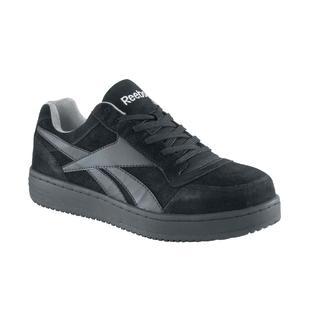 Reebok Men's black Soyay steel toe classic skateboard slip resisting shoe