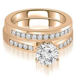 AMCOR 0.90 cttw Round-Cut 14k Rose Gold Diamond Engagement Ring Set at Kmart.com