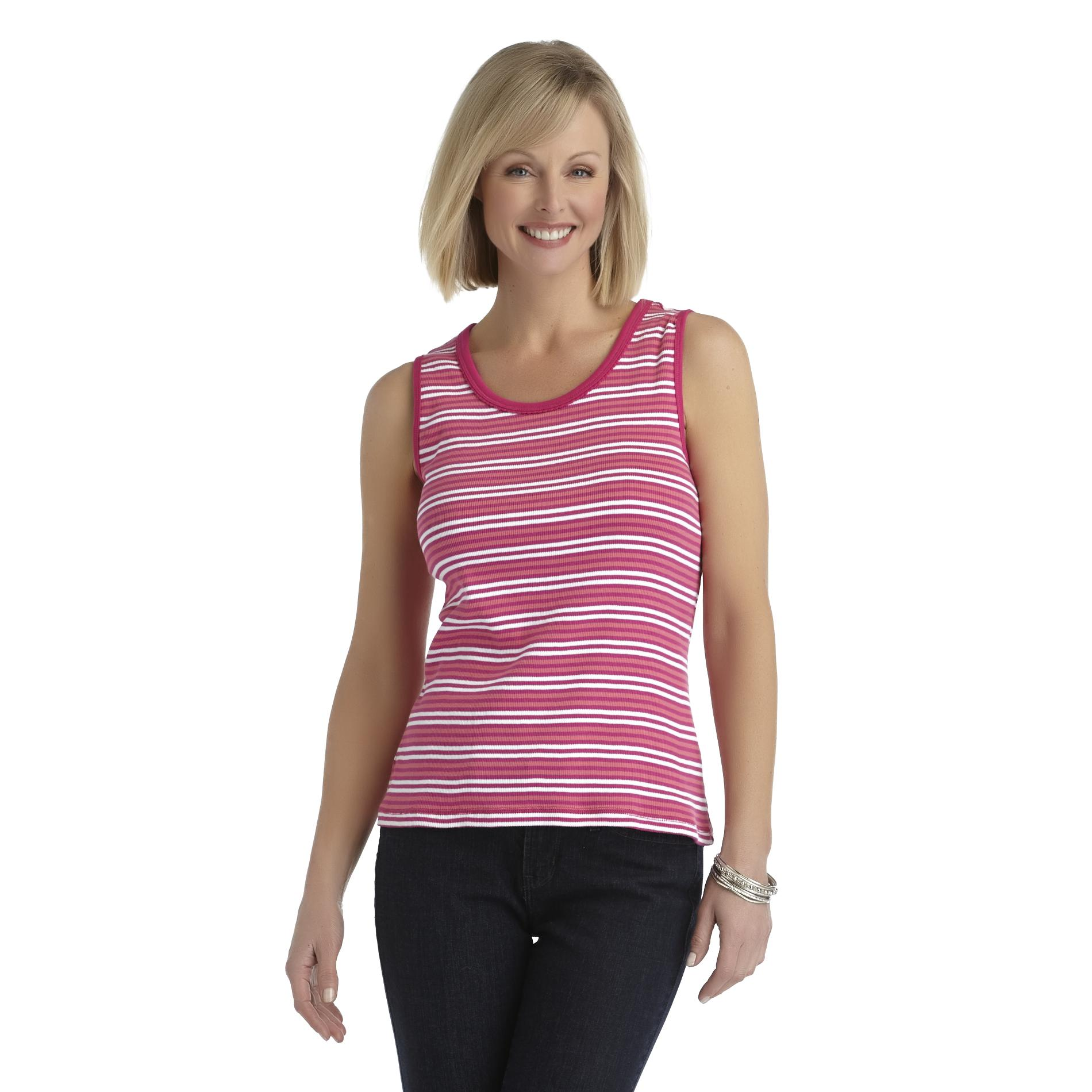Laura Scott Women's Scoop Neck Tank Top - Striped at Sears.com