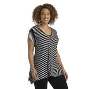 Notations Women's Plus Chevron-Stripe Tunic Top at Sears.com