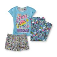 Girl's Pajama Top, Pants & Shorts - Love 2 Dream