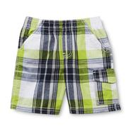 Toughskins Infant & Toddler Boy's Twill Cargo Shorts - Plaid at Sears.com