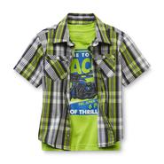 Toughskins Infant & Toddler Boy's T-Shirt & Button-Front Shirt - Motorbike at Sears.com