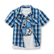 Toughskins Infant & Toddler Boy's T-Shirt & Button-Front Shirt - Sports at Sears.com