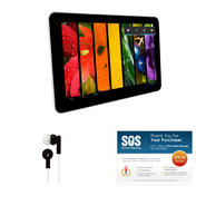"Axess 9"" Black Dule Core 4.1 Android Tablet with Earbuds and SOS Subscription at Kmart.com"