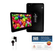 "Axess 7"" Black Dual Core 4.1 Android Tablet with Earbuds and SOS Subscription Bundle at Kmart.com"