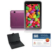 "iView® 7"" Pink 4.2 Android Tablet Bundle at Kmart.com"