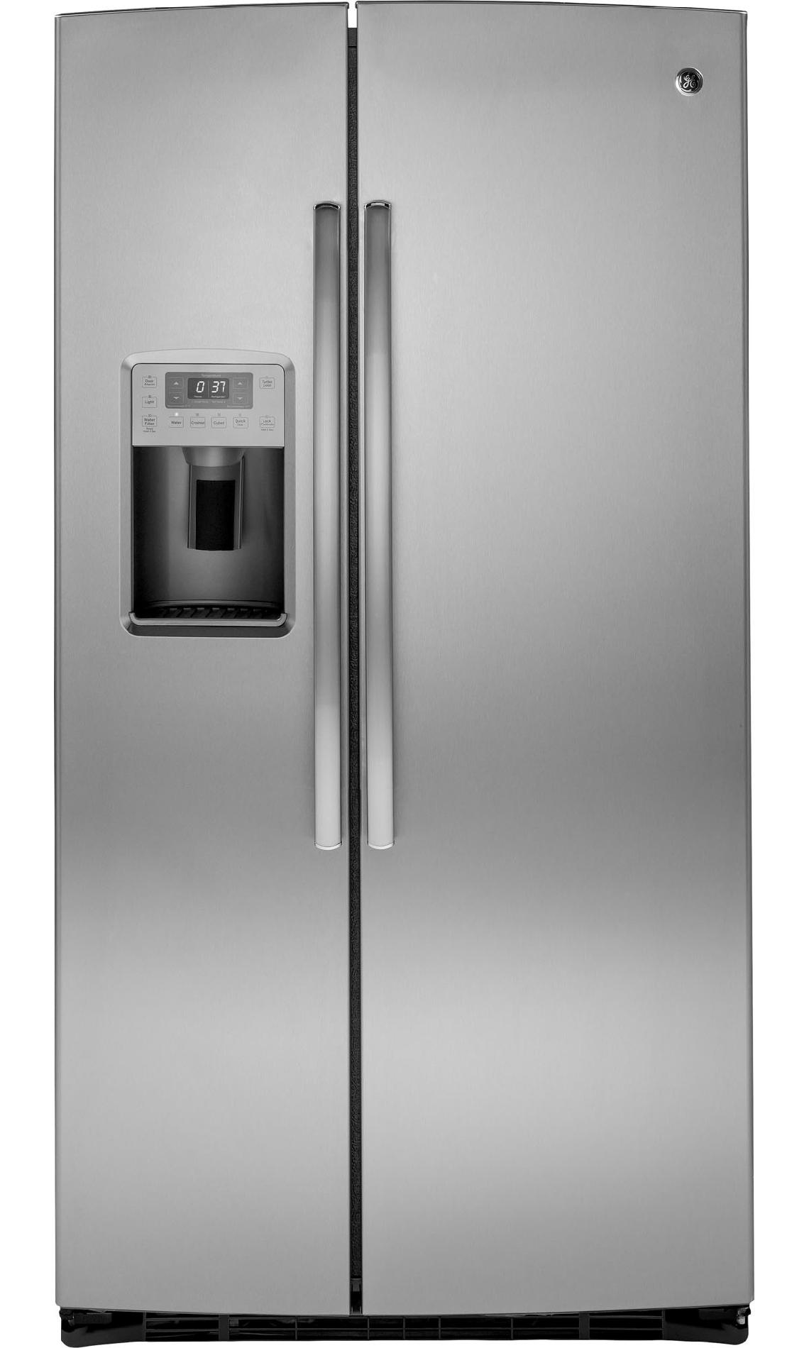 25-9-cu-ft-Side-by-Side-Refrigerator-w-Turbo-Cool-Stainless-Steel