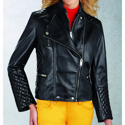 R&O Women's Quilted Leather Motorcycle Jacket - Online Exclusive at Kmart.com