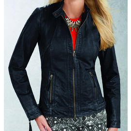 R&O Women's Suede Scuba With Quilted Shoulder Trim - Online Exclusive at Sears.com