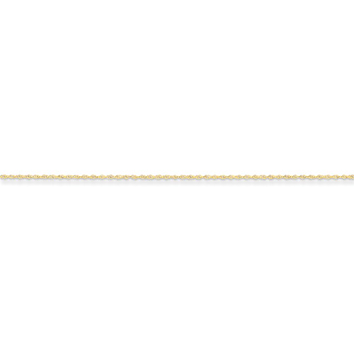 14k .8mm Lite-Baby Rope Chain Anklet -