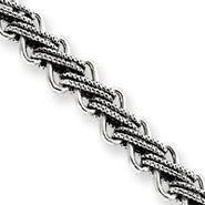 Sterling Silver Antiqued Fancy Link Bracelet - 7.5 Inch - Toggle at Kmart.com