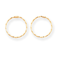 14k Small Endless Twisted Hoop Earrings - Measures 15x15mm at Kmart.com