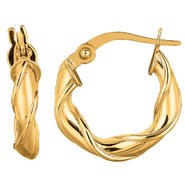 14k Gold Yellow Hoop Earrings 3.3x15.9 at Kmart.com