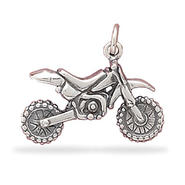 Sterling Silver Dirt Bike Charm Measures 17x22mm at Kmart.com