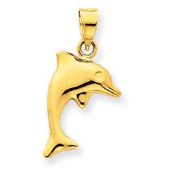 14 Karat Dolphin Pendant - Measures 22.1x11.5mm at Kmart.com