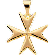 14k Yellow Gold Maltese Cross Pendant 18mm at Kmart.com