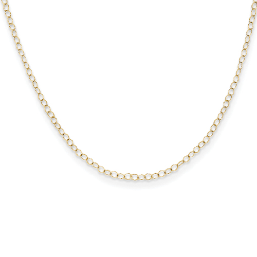 14k Cable Child Chain - 15 Inch
