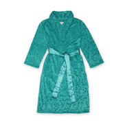 Jaclyn Smith Women's Brushed Velour Bathrobe - Leopard Print at Kmart.com