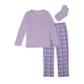 Pink K Women's Pajama Shirt, Pants & Socks - Plaid at Kmart.com