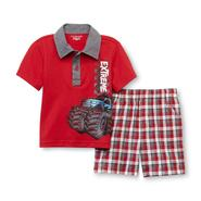 WonderKids Infant & Toddler Boy's Polo Shirt & Shorts - Monster Truck at Kmart.com