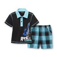 WonderKids Infant & Toddler Boy's Polo Shirt & Shorts - Guitar at Kmart.com