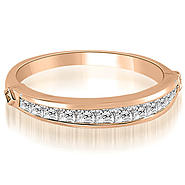 AMCOR 14K Rose Gold 0.60 cttw Classic Channel Set Princess Cut Diamond Wedding Band (I1, H-I) at Kmart.com