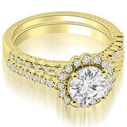 AMCOR 1.69 cttw. 14K Yellow Gold Antique Halo Round Cut Diamond Bridal Set (I1, H-I) at Kmart.com