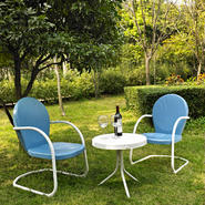 Crosley Outdoor Griffith 3 Piece Metal Outdoor Seating Set at Kmart.com