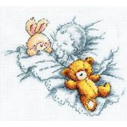 "Baby W/Rabbit & Teddy Bear I Counted Cross Stitch Kit-8""X7-1/8"" 14 Count at Sears.com"