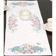 """Stamped Table Runner/Scarf 15""""X42""""-Kittens In Flowers at Kmart.com"""