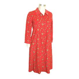 La Cera Womens Cotton Printed Corduroy Dress at Sears.com