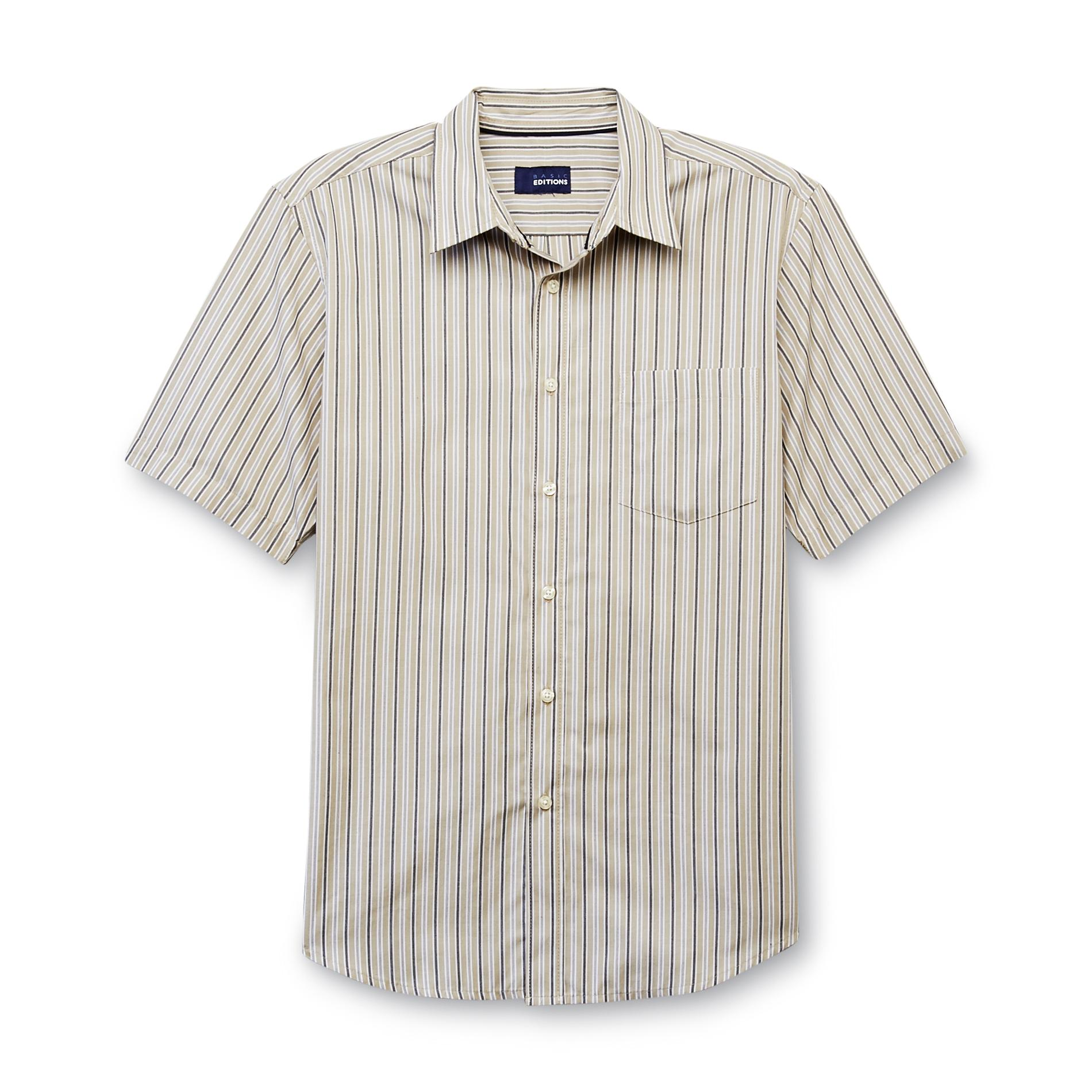 Basic Editions Men's Easy Care Woven Shirt - Striped at Kmart.com