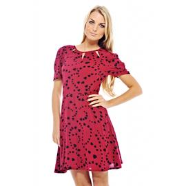 AX Paris Women's Heart Printed Cut Out Neck Dress at Kmart.com