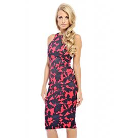 AX Paris Women's Printed Cut In Neck Midi Red Dress at Kmart.com