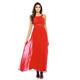 AX Paris Women's Embellished Key Hole Front Red Maxi at Kmart.com