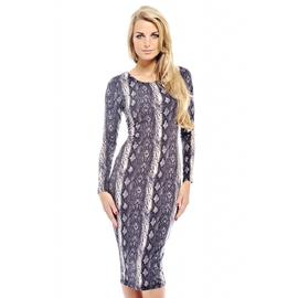 AX Paris Women's Snake Print Long Sleeve Midi Dress at Kmart.com