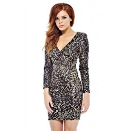 AX Paris Women's V Front Bodycon Sequin Dress at Sears.com