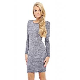 AX Paris Women's Scratch Print Square Neck Grey Dress at Kmart.com