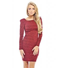 AX Paris Women's Scratch Print Square Neck Red Dress at Kmart.com