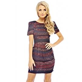AX Paris Women's Aztec Line Print Two In One Dress at Kmart.com