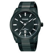 Pulsar Men's Stainlesss Steel Black Ion Finish Black Dial Watch Dress at Sears.com