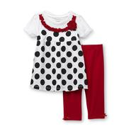 WonderKids Infant & Toddler Girl's Layered-Look Top & Leggings - Polka Dots at Kmart.com