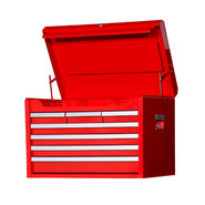 "Craftsman 27"" 7-Drawer Ball Bearing Slides Top Chest Red at Craftsman.com"