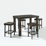 Crosley Outdoor Palm Harbor 5 Piece Outdoor Wicker High Dining Set at Kmart.com