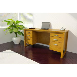 Dorel Home Furnishings Bank Alder 6 Drawer Desk