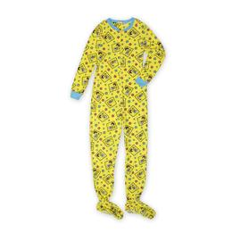 Nickelodeon SpongeBob SquarePants Women's Footie Pajamas at Kmart.com