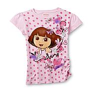 Nickelodeon Dora The Explorer Girl's Top & Ribbon Baton - Polka Dots at Sears.com