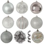 40 ct variety ornament pack, silver at Kmart.com